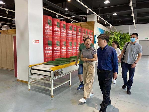 扬州市工业和信息化局领导到江苏爱德福调研考察